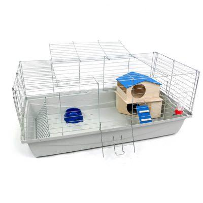 Klatka dla królika lub świnki morskiej 100cm zdomkiem piętrowym