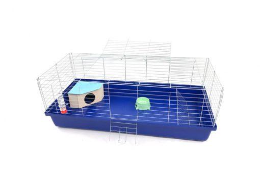 Klatka dla królika lub świnki morskiej 120cm z domkiem narożnym