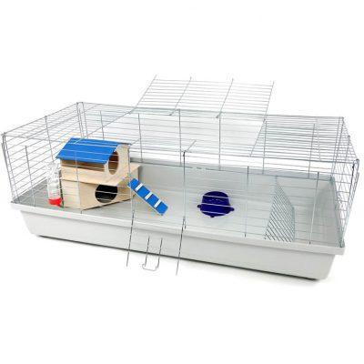 Klatka dla królika lub świnki morskiej 120cm zdomkiem piętrowym