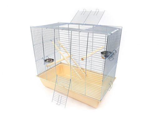 Klatka dla ptaków Mega2, beżowa kuweta