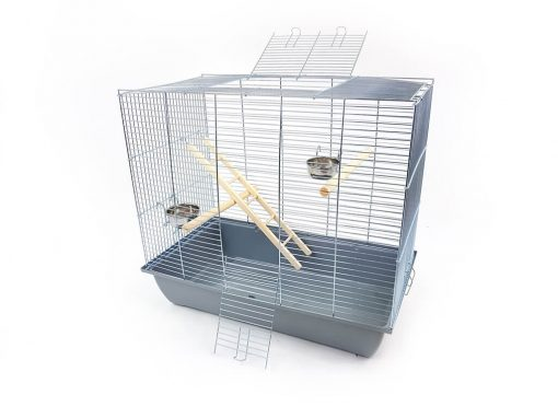 Klatka dla ptaków Mega2, szara kuweta