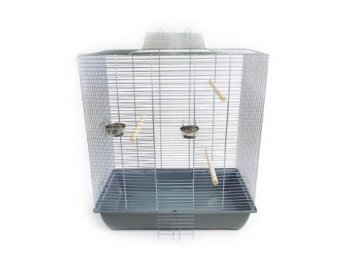 Klatka dla ptaków Mega3, szara kuweta