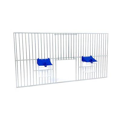 Front dobudowy klatek dla ptaków 50x25 zpoidełkami